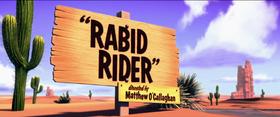 Rabid Rider Title Card