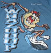 TASMANIAN DEVIL LAS VEGAS T-SHIRT Taz souvenir Whazuuup Warner Bros cartoon M