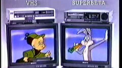 SONY VCR - 1980's Looney Tunes TV Commercial - Bugs Bunny