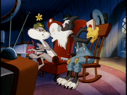 File:Slappy And Walter Fighting over the remote .jpg