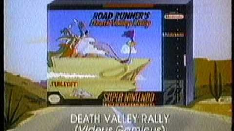 Road Runner's Death Valley Rally Game Commercial SNES