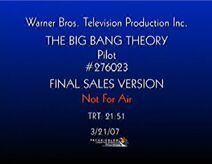 The Big Bang Theory Pilot Photo