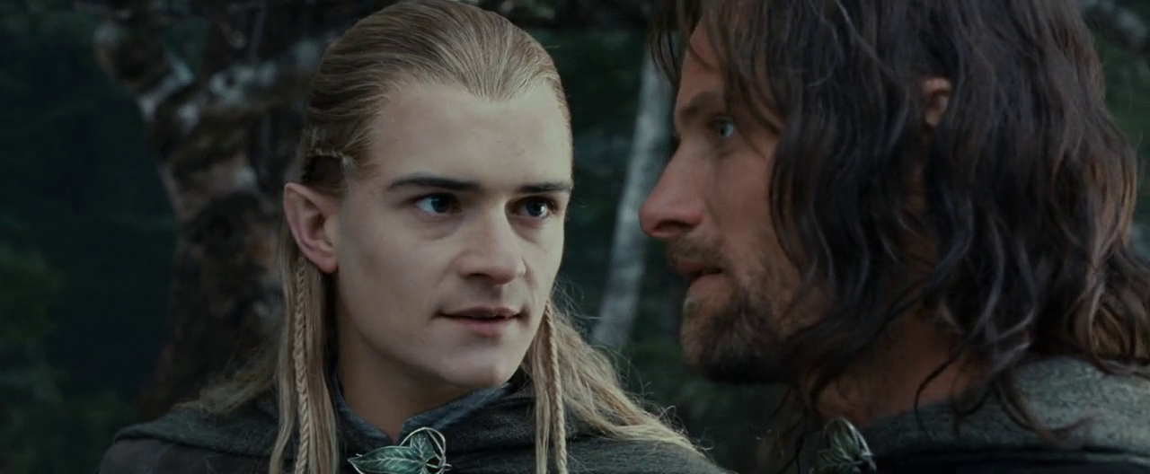 Image - Legolas talking to Aragorn - FOTR.png   The One ...