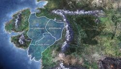 Map of the ancient Three Northern Kingdom