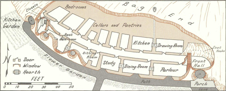 bilbo baggins house floor plans house design plans