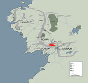ANORIEN location map in middle earth