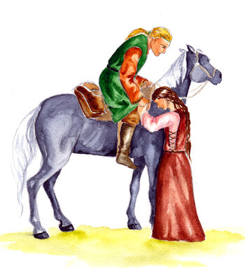 Ríana i Huor na koniu – autorstwa Marii Filatovej