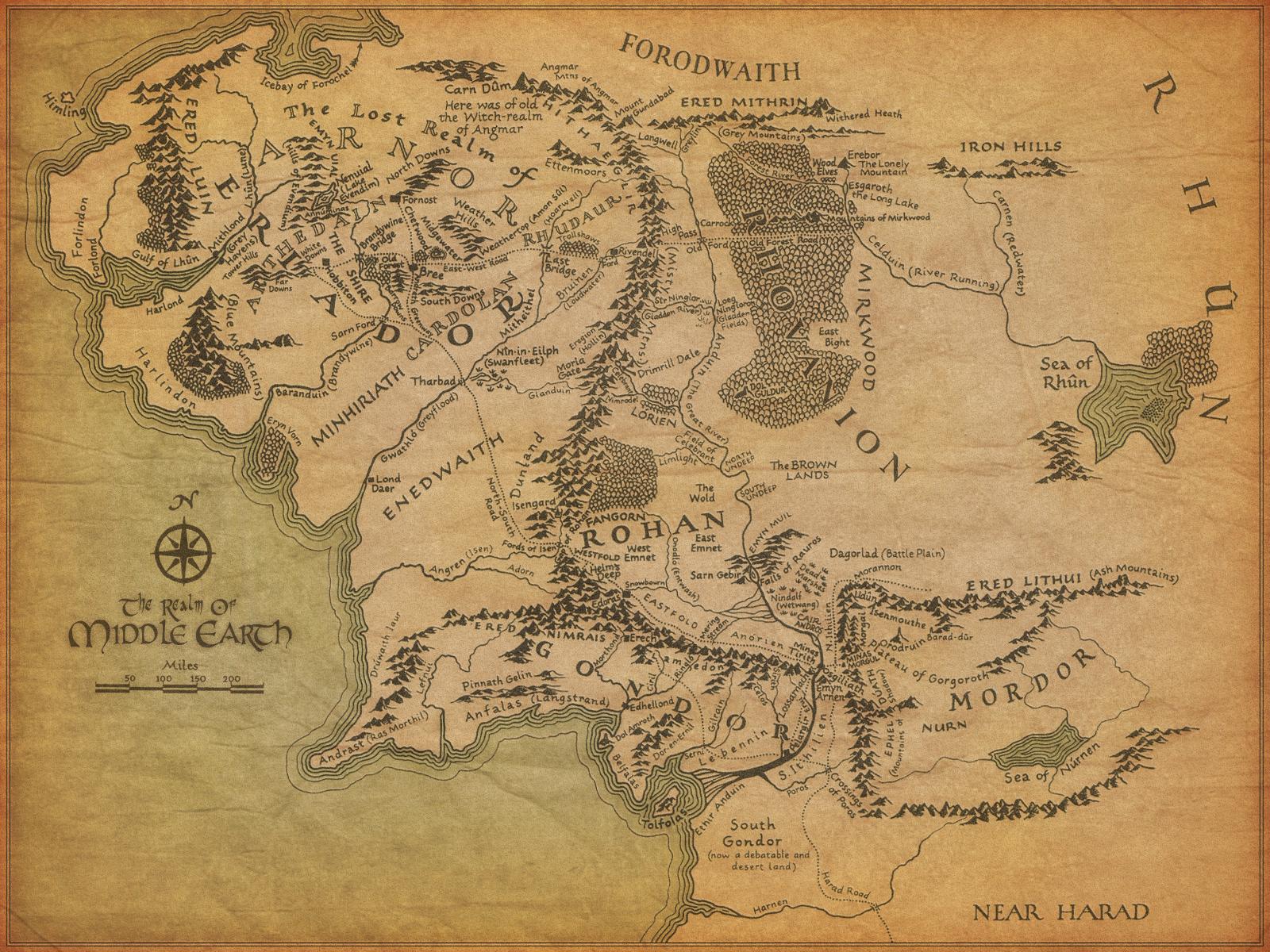 Tolkien's map