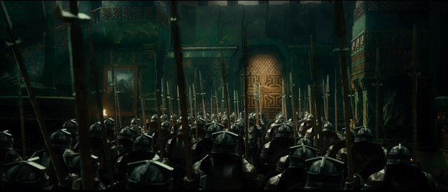 File:Dwarves defending Erebor.png