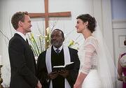 Barney and robins wedding