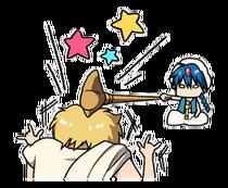 Alibaba & Aladdin funny Line sticker