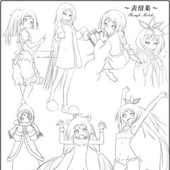 Monshiro Sketches for Majikoi A-2