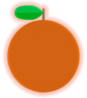 Orange transparent