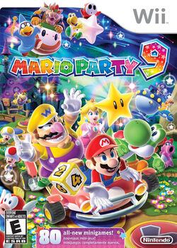 Mario party 9 european box art
