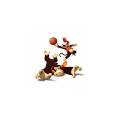 Diddy thrashing Donkey Kong in Basketball
