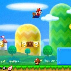 An early screenshot of <i>New Super Mario Bros. 2</i>.