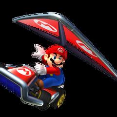 Mario gliding.