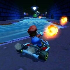 Mario in the Piranha Slider course