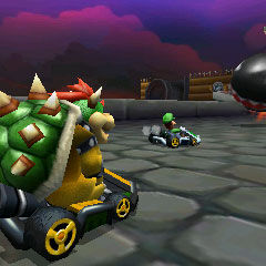 Bowser racing in <a href=
