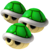 Triple Green Shells Artwork - Mario Kart Wii