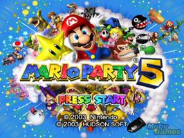 Mario Party 5 Title Screen