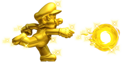 Golden Mario Artwork - New Super Mario Bros. 2