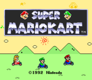 Super Mario Kart Title Screen