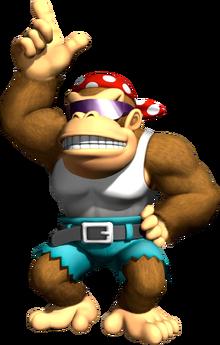 Funky Kong Artwork - Mario Kart Wii