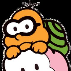 Lakitu's artwork from <i>Super Mario Bros.</i>