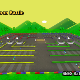 SNES Battle Course 4 as seen in <i>Mario Kart Wii</i>.