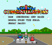 Super Mario Kart Award Ceremony