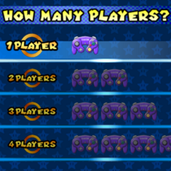 Selecting the amount of players.