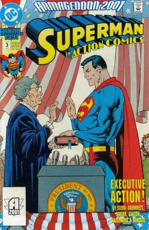 Cover for Action Comics Annual #3 (1991)