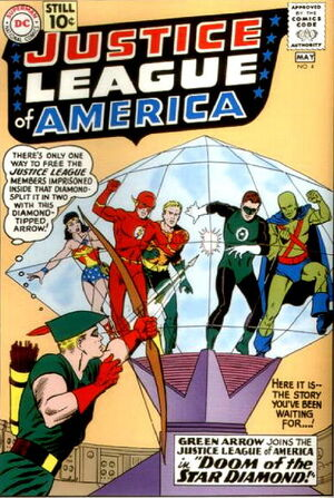 Cover for Justice League of America #4 (1961)