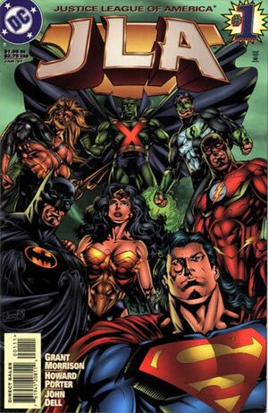 Cover for JLA #1 (1997)