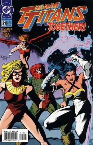 Cover for Team Titans #21 (1994)