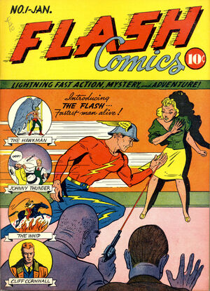 Cover for Flash Comics #1 (1940)
