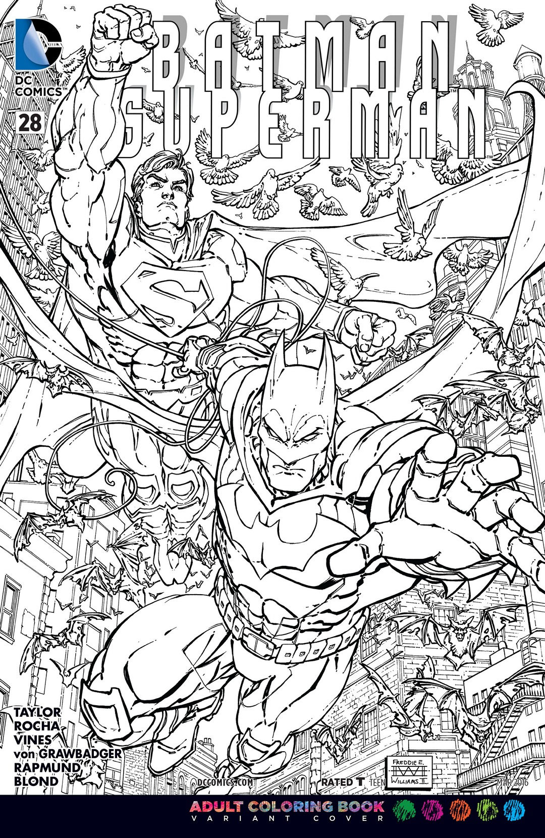 image batman superman vol 1 28 coloring book variant jpg