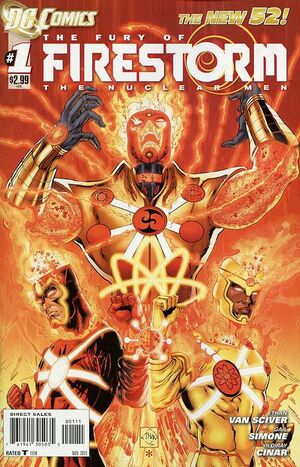 Cover for Fury of Firestorm: The Nuclear Men #1 (2011)