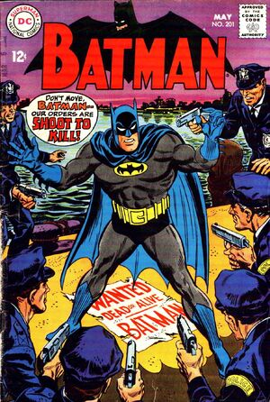 Cover for Batman #201 (1968)