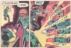 Guy Gardner power battery explosion