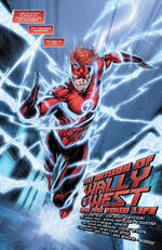 After arriving on Prime Earth, Wally uses the Speed Force to construct a new costume