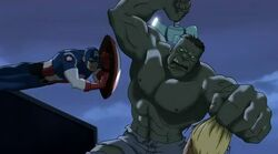 Cap Tackles Hulk UA