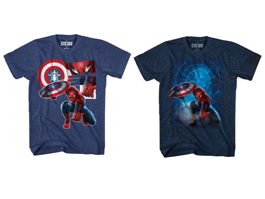 File:Civil War Spider-Man T shirts.jpg