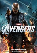 Avengers Poster Nick Fury and Hawkeye