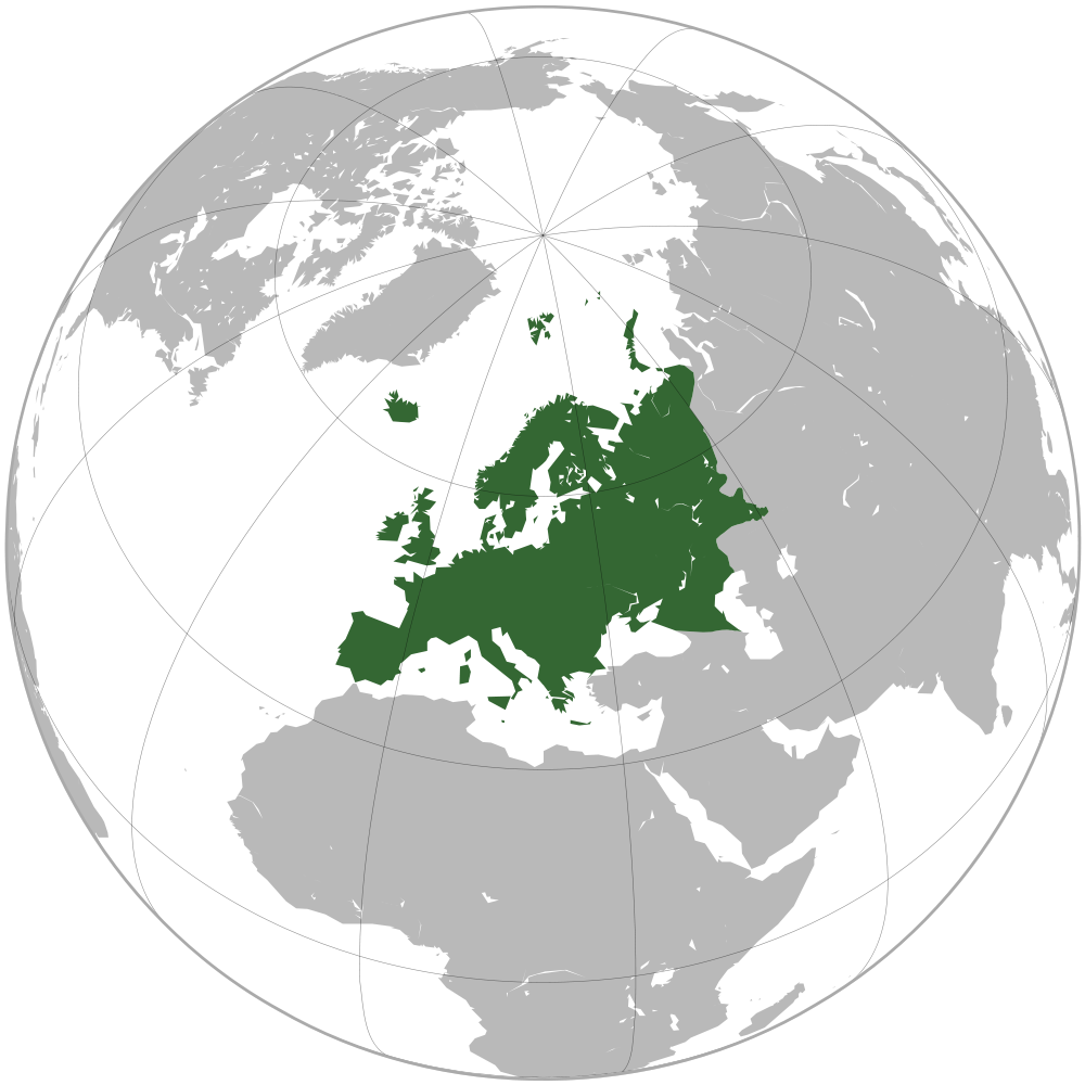 Image Map of Europepng – Globe Map of Europe