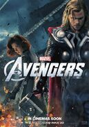Avengers Poster Thor and Black Widow