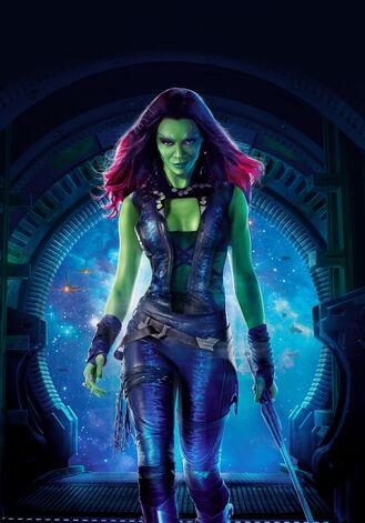 File:Gamora Gotg Textless Poster.jpg