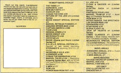 Assistant Editor's Month 1984 issues