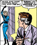 Susan Storm (Earth-616) and Reed Richards (Earth-616) from Fantastic Four Vol 1 3 0001